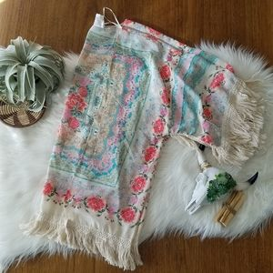 Floral fringe kimono from Spool 72